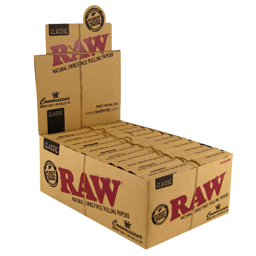 caja Raw Classic Connoisseur King Size Prerolled