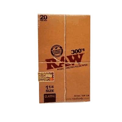 caja raw 300¨s 20 librillos