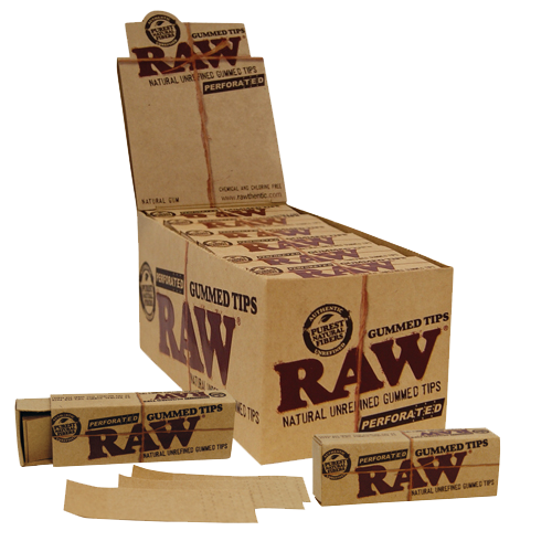 caja tips gummed raw
