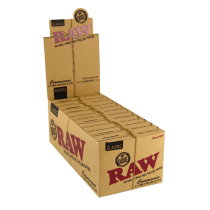 caja Raw Classic Connoisseur 1 1/4 Prerolled Librillo