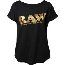 Rpxraw Girl Shirt Black Gold