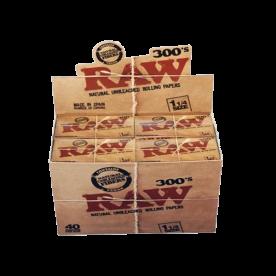 Caja 40 librillos Raw 1 ¼ 300's  Classic
