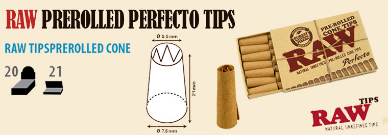 raw tips prerrolled perfecto